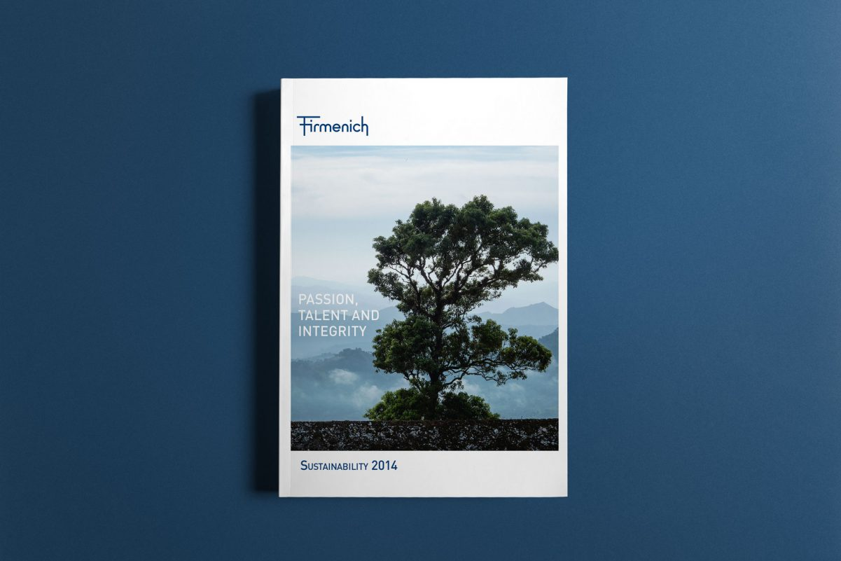 Firmenich - Sustainability Rport - couverture - 2014